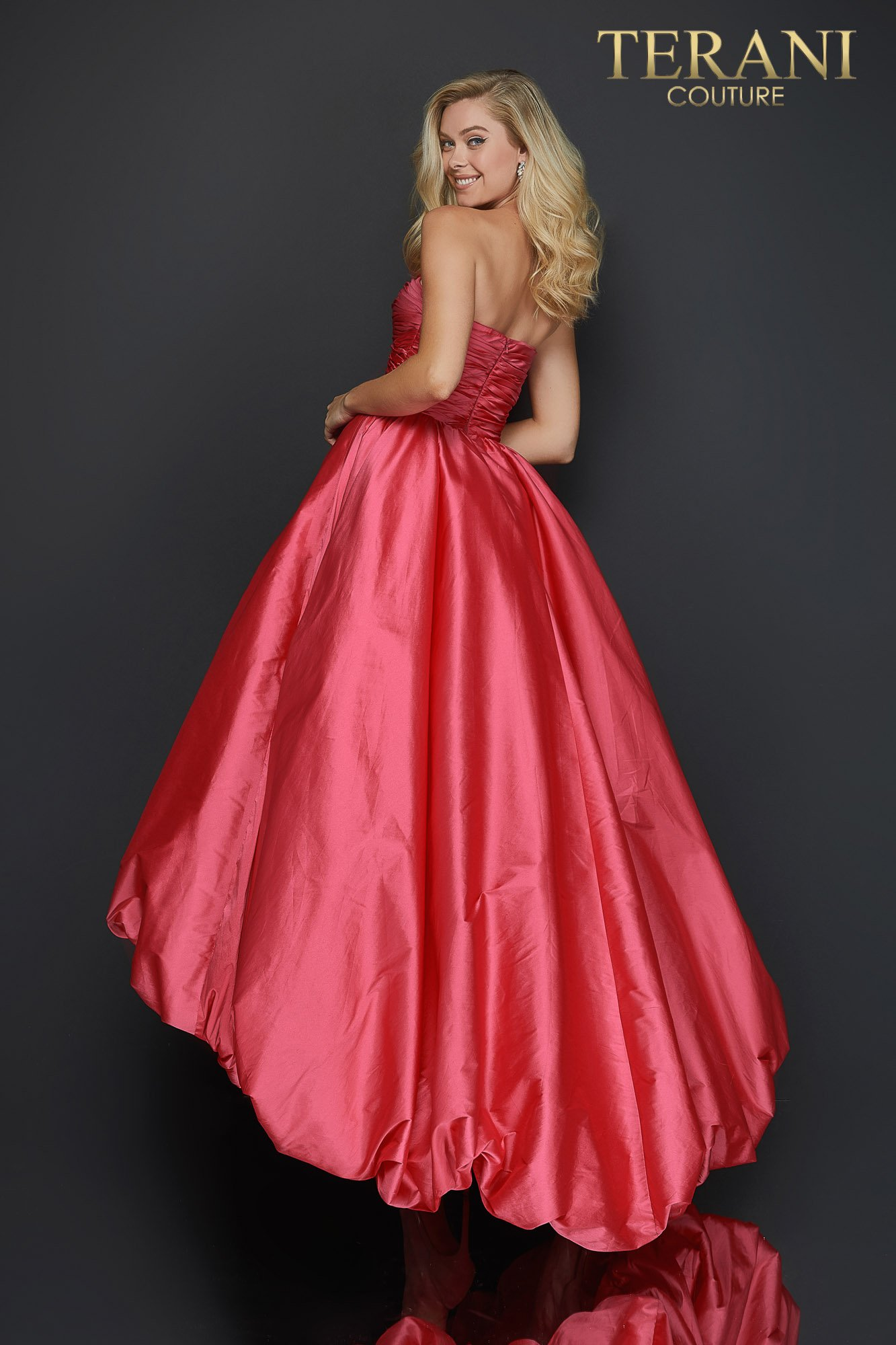 Sweetheart High Low Bubble Skirt Prom Dress 2011p1043