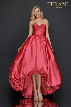 Sweetheart high low bubble skirt prom dress –  2011P1043