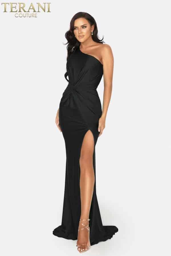 One shoulder high slit prom dress - 2011P1066