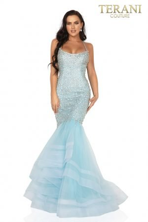 Crystal beaded sexy fitted mermaid prom gown – 2011P1143