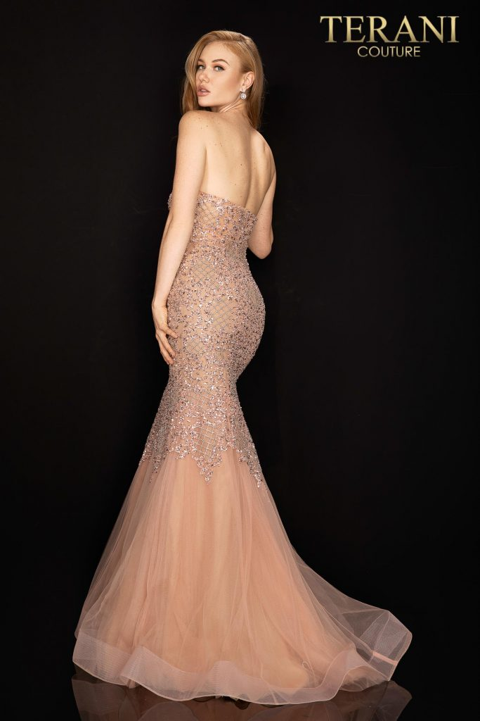 Style: Heavily beaded sweetheart prom dress – 2011P1148
