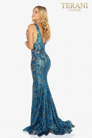 V-Neckline sequin sexy prom dress – 2011P1154
