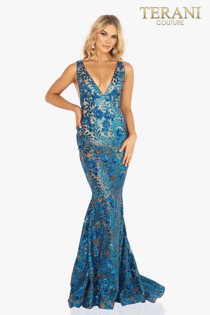 V-neckline sequin sexy prom dress – 2011P1154