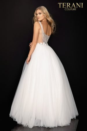 Fairytale beaded long prom ball gown – 2011P1173