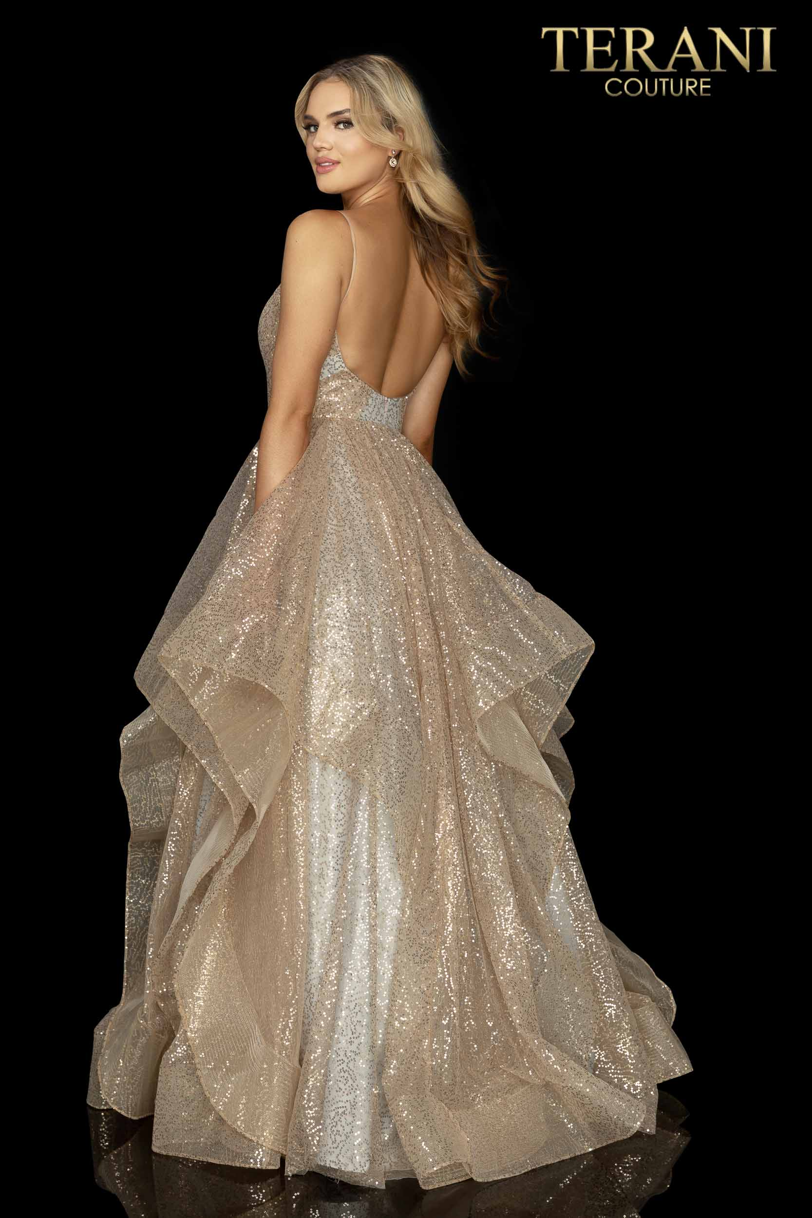 Sparkling glitter layer tulle prom ball gown - 2011P1214