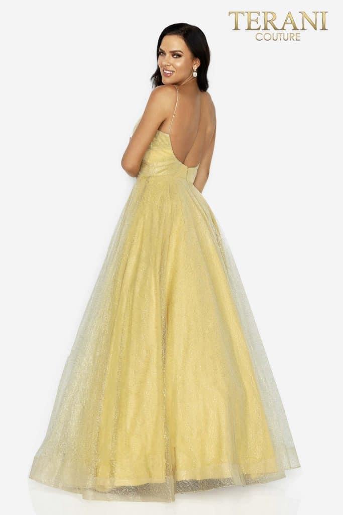 Style: Spaghetti strap prom glitter ball gown – 2011P1225
