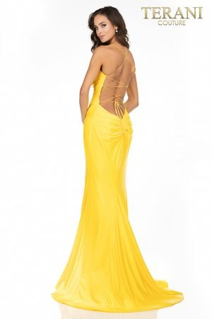 Open back fitted Jersey prom dress – 2011P1234
