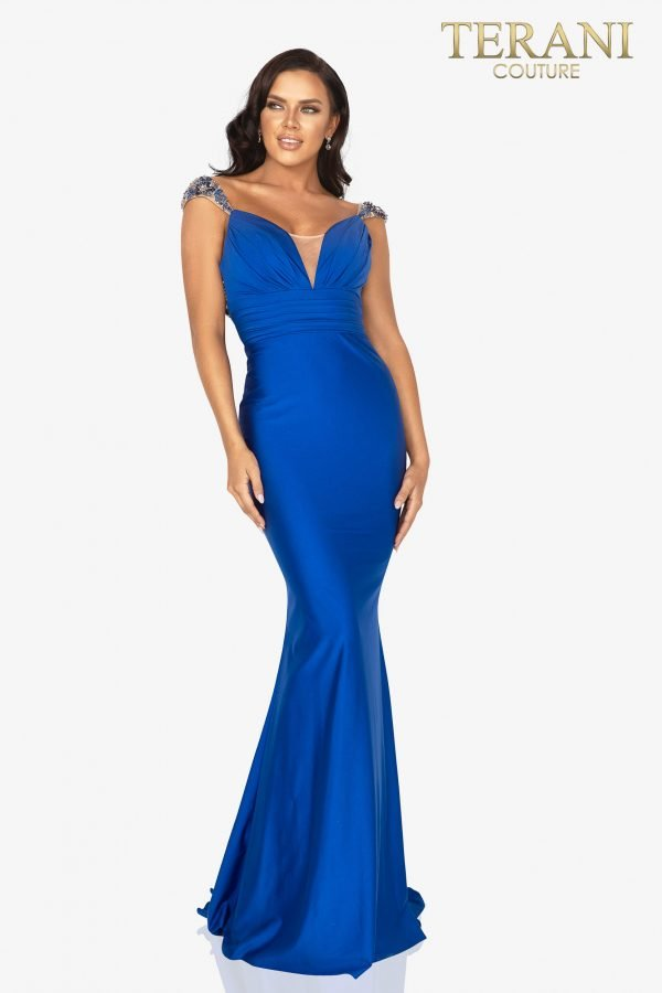 Sleeveless open back long prom gown - 2011P1469