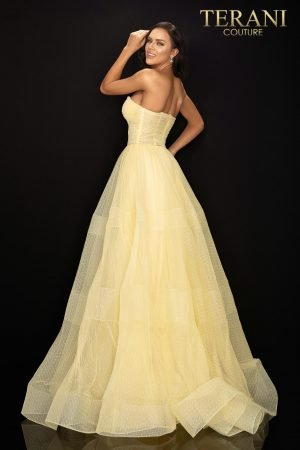 Strapless tulle prom ball gown – 2012P1399