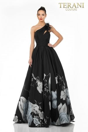 Evening Border Ball Skirt, 3D Flower Back Strap – 2021E2791