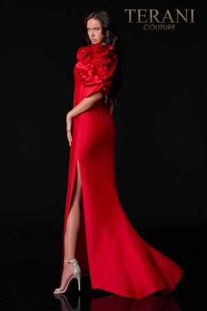 One Shoulder Red Evening Dress – 2111E4727
