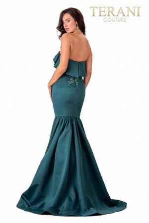 Strapless Mermaid Spruce Evening Dress – 2111E4731