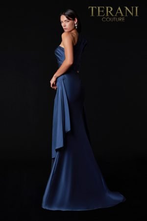 Sophisticated Asymmetric Evening Dress – 2111E4747