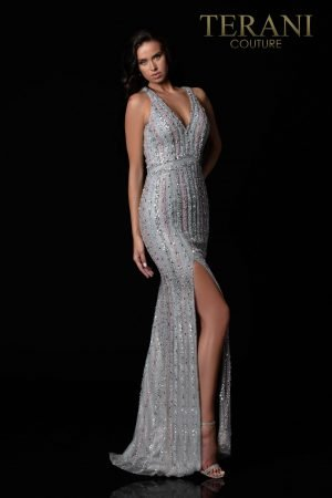 Shimmery Silver Blush Pageant Gown – 2111GL5059