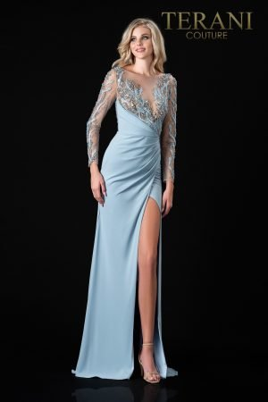Elegant Champagne Colored  Mother Of The Bride Dress  – 2111M5266