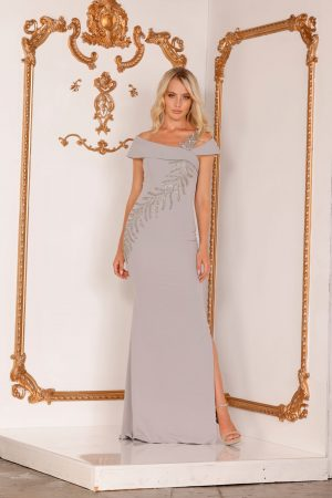 Sleek Mother Of The Bride Dress With Asymmetric Embellishments – 2111M5289
