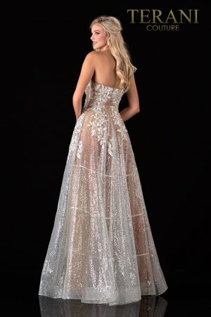 Strapless White Nude Prom Dress – 2111P4105