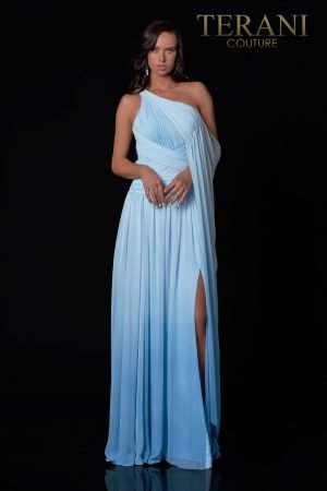 One Shoulder Ombre Evening  Dress – 2112E4924
