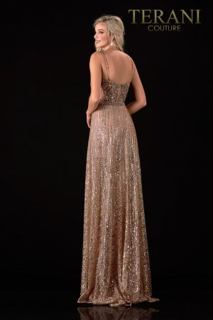 Contemporary Bronze  Prom Dress With Shorts – 2112P4326