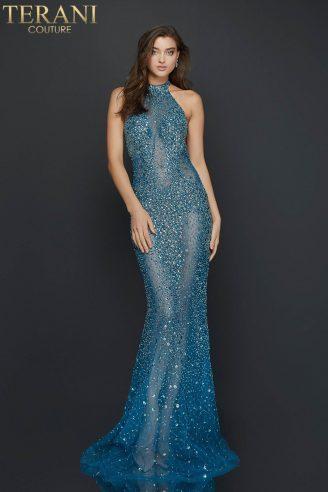 Sexy halter neck beaded illusion prom dress - 2011P1080